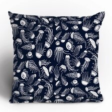 Jennifer Denty Jellyfish Polyester Throw Pillow