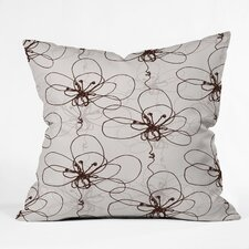 Rachael Taylor Tonal Floral Indoor / Outdoor Polyester Throw Pillow