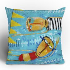 Robin Faye Gates Swimming Is Hard Polyester Throw Pillow