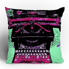Romi Vega Antique Typewriter Polyester Throw Pillow