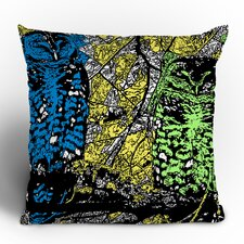 <strong>DENY Designs</strong> Romi Vega Bright Owl Polyester Throw Pillow