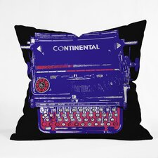 Romi Vega Polyester Continental Typewriter Indoor / Outdoor Throw Pillow