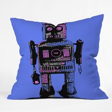 <strong>DENY Designs</strong> Romi Vega Lantern Robot Indoor/Outdoor Polyester Throw Pillow