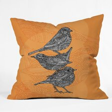 Valentina Ramos 3 Little Birds Polyester Throw Pillow