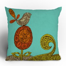 Valentina Ramos Bird in The Flower Polyester Throw Pillow