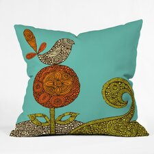 Valentina Ramos Bird in The Flower Indoor/Outdoor Polyester Throw Pillow