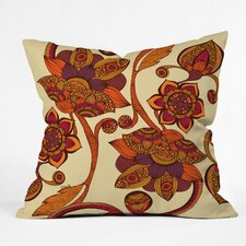 Valentina Ramos Boho Flowers Polyester Throw Pillow