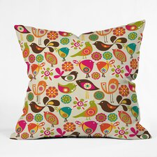 Valentina Ramos Little Birds Indoor/Outdoor Polyester Throw Pillow