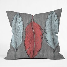Wesley Bird Feathered Indoor/Outdoor Polyester Throw Pillow