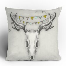 Wesley Bird Skull Polyester Throw Pillow