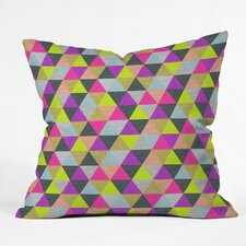 Bianca Green Ocean of Pyramid Indoor/Outdoor Polyester Throw Pillow