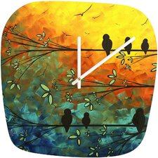 Madart Inc. Birds Of A Feather Clock