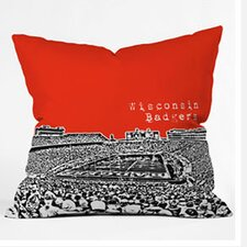 Bird Ave Wisconsin Badgers Woven Polyester Throw Pillow