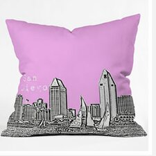 Bird Ave San Diego Woven Polyester Throw Pillow