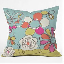 Rachael Taylor Fun Floral Woven Polyester Throw Pillow
