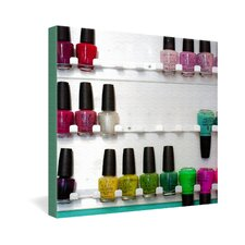 <strong>DENY Designs</strong> Bird Wanna Whistle Nail Polish Gallery Wrapped Canvas