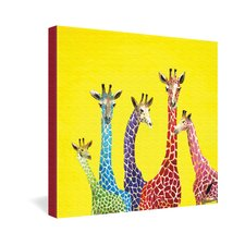<strong>DENY Designs</strong> Clara Nilles Jellybean Giraffes Gallery Wrapped Canvas