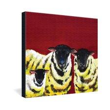 Lemon Spongecake Sheep by Clara Nilles Painting Print on Canvas