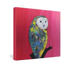 Clara Nilles Owl On Lipstick Gallery Wrapped Canvas