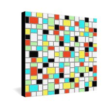 <strong>DENY Designs</strong> Jacqueline Maldonado Geo Square Gallery Wrapped Canvas