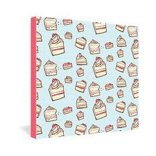 Cake Slices by Jennifer Denty Graphic Art on Canvas