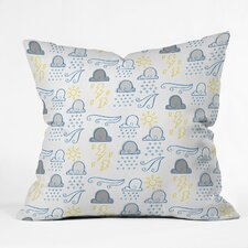 Jennifer Denty Clouds Indoor / Outdoor Polyester Throw Pillow