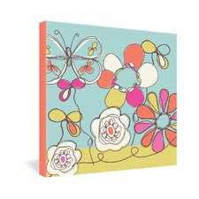 <strong>DENY Designs</strong> Rachael Taylor Fun Floral Gallery Wrapped Canvas