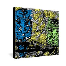 <strong>DENY Designs</strong> Romi Vega Bright Owl Gallery Wrapped Canvas
