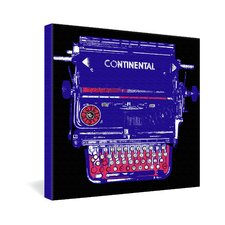 Continental Typewriter by Romi Vega Graphic Art on Canvas