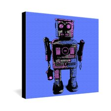 Romi Vega Lantern Robot Gallery Wrapped Canvas
