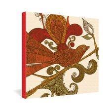 <strong>DENY Designs</strong> Valentina Ramos The Orange Bird Gallery Wrapped Canvas