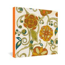 <strong>DENY Designs</strong> Valentina Ramos Orange Flowers Gallery Wrapped Canvas