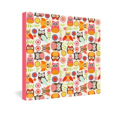 <strong>DENY Designs</strong> Valentina Ramos Cute Little Owls Gallery Wrapped Canvas
