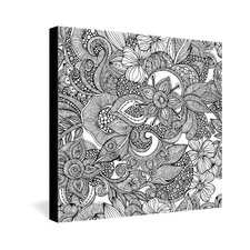 <strong>DENY Designs</strong> Valentina Ramos Doodles Gallery Wrapped Canvas