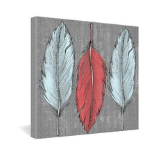 <strong>DENY Designs</strong> Wesley Bird Feathered Gallery Wrapped Canvas