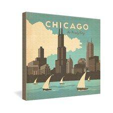 Chicago by Anderson Design Group Vintage Advertisement on Canvas