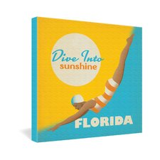 Dive Florida by Anderson Design Group Vintage Advertisement on Canvas