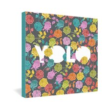 <strong>DENY Designs</strong> Bianca Green Yolo Gallery Wrapped Canvas