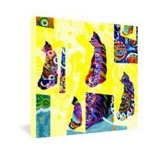 <strong>DENY Designs</strong> Randi Antonsen Cats 1 Gallery Wrapped Canvas