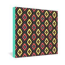 Zig Zag Ikat by Jacqueline Maldonado Graphic Art on Canvas