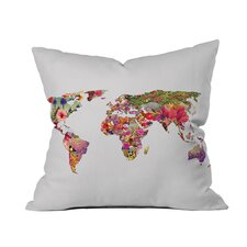 Bianca Green It's Your World Throw Pillow in White