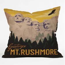 Anderson Design Group Mount Rushmore Woven Polyester Throw Pillow