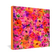 Amy Sia Fleur Rouge Gallery Wrapped Canvas