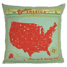 Anderson Design Group Explore America Woven Polyester Throw Pillow