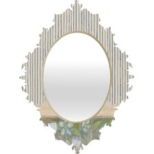 Cori Dantini Blue and White Stripes Baroque Mirror