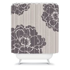 Caroline Okun Winter Peony Polyester Shower Curtain