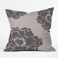 Caroline Okun Winter Peony Polyester Throw Pillow