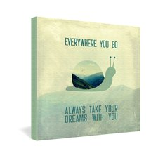 <strong>DENY Designs</strong> Belle13 Always Take Your Dreams With You Gallery Wrapped Canvas