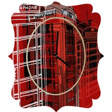 Aimee St. Hill Phone Box Wall Clock