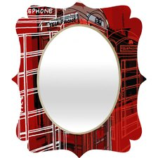 Aimee St Hill Phone Box Quatrefoil Mirror